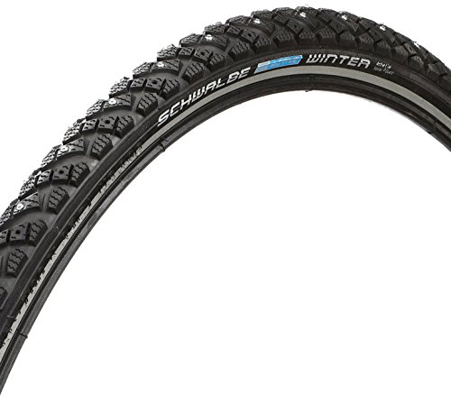 (Schwalbe Marathon Winter HS 396 Studded Road Bike Tire (700x35, Allround Wire Beaded, Reflex))