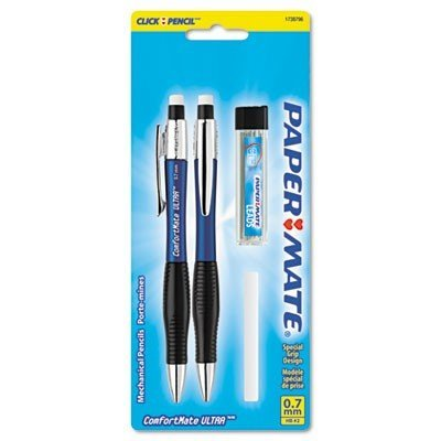 (Paper Mate 1738796 Comfortmate Ultra Pencil Starter Set, Ast Brl; 0.7 mm, Ref)