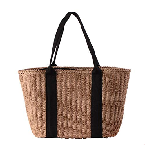 pour bandoulière Brown Paille en Color Femme Brown à Sac qvI1zw4z