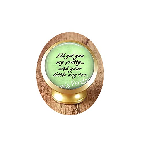 - hars I'll get You My Pretty.and Your Little Dog Too. Wicked Witch of The West Quote - Wizard of oz Jewelry - Ruby Slippers Brooch, Gothic Woman Keychain Magnetic Car Phone Mount Holder