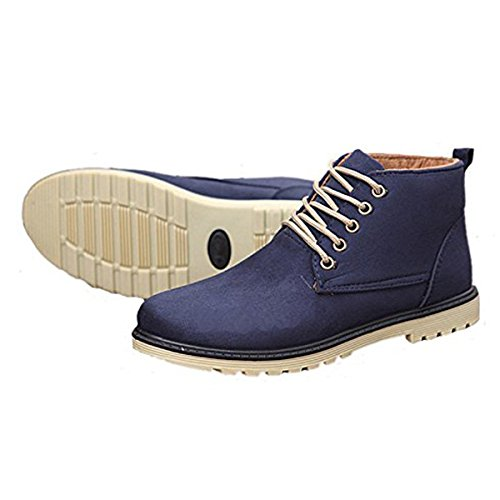 Dear Time Winter Shoes Botines Con Cordones Warm Cotton High Shoes Blue