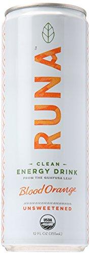 Runa Clean Energy Drinks Guayusa Sparkling Beverage, Orange Passion, 14 fl oz
