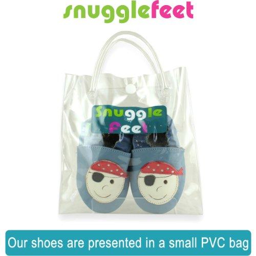Snuggle Feet - Suaves Zapatos De Cuero Del Bebé Calavera (18-24 meses)