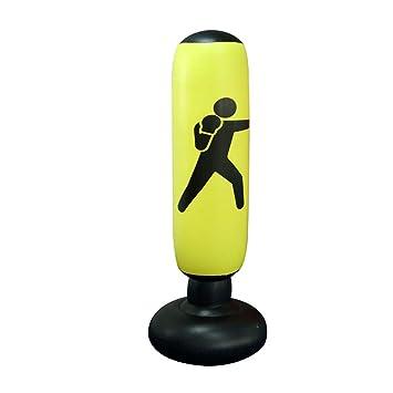 Saco de PVC Inflable Boxeo Soporte de Alivio de presión para Trabajo Pesado de Boxeo Objetivo de Fitness Negro Accesorio 1PC