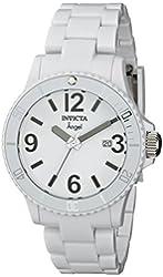 Invicta Women's 1207 Angel White Plastic Watch with Link Bracelet