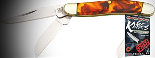 Rough Rider Elite Knife 011812 Folding Tiny Stockman Imitation Tortoise Shell Handle + free eBook by ProTactical'US
