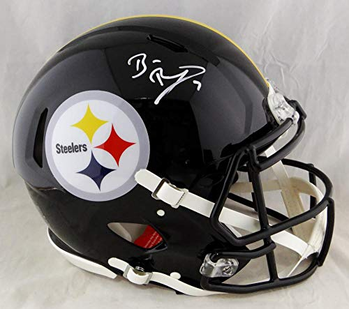 Ben Roethlisberger Autographed Pittsburgh Steelers F/S Speed Authentic Helmet- Beckett Auth White