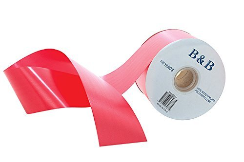 Plastic Printer Ribbon (B&B Poly Satin Waterproof Floral Craft Ribbon, 100 Yard Roll (Red (Crimson)))