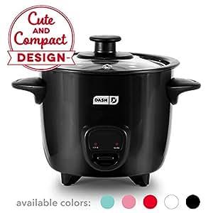 Amazon.com: Dash DRCM200BK Mini Rice Cooker Steamer with