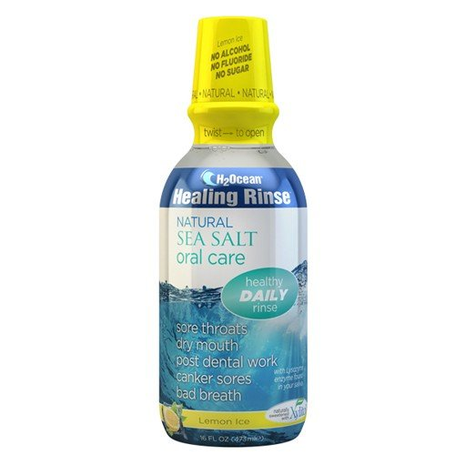 (H2Ocean Lemon Ice Mouthwash, 16 Fluid Ounce)