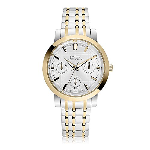- Daniel Steiger Concerto Luxury Two-Tone Ladies Watch - Water Resistant - Multi-Link Adjustable Bracelet - Precision 3 Hand Movement - Day, Date & 24hour Subdials
