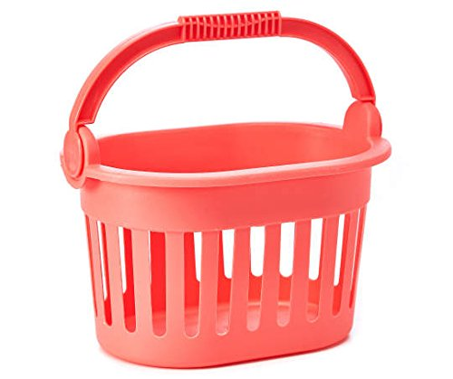 (Party Now Oval Shower Caddy Basket (coral) )