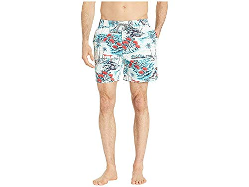 Reyn Spooner Men's Banyon Drive Swim Trunks Mosaic Blue X-Large