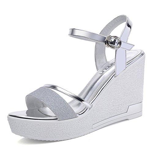 grande UE sandali Golden spiaggia piste da sandali ladies RUGAI spesso scarpe estive Onorevoli fondo 1qTTwPBx