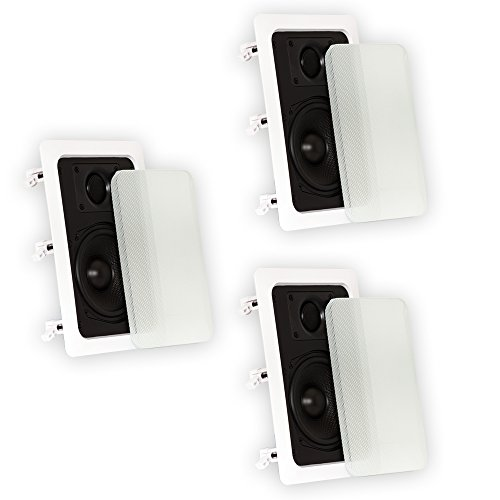 Theater Solutions TS50W In Wall Speakers Surround Sound Home Theater 3 Speaker Set by Theater Solutions