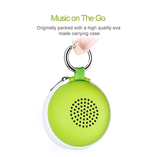 EWA A106 Portable Mini Bluetooth Speaker with Passive Radiator, Powerful Sound, Enhanced Bass, Tiny Body Loud Voice, Perfect Wireless Speaker For Shower, Travel, Outdoor, Echo Dot, Hiking and More by Ewa (Image #5)