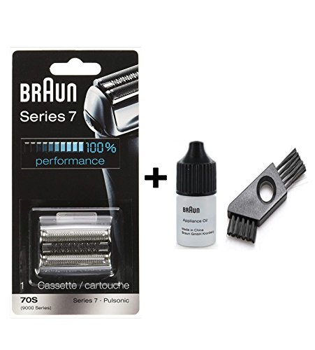 Braun 70S Cassette / 9000 Series 7 with approx. 6cm cleaning brush and oil 7ml -