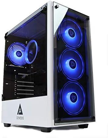 Gaming PC Desktop Computer White Genesis Design i5 3.10ghz 2400, 8GB DDR3 Ram, Geforce GT710 2GB Graphic,128GB SSD Drive, 1TB HDD, 550w Power, WiFi Ready