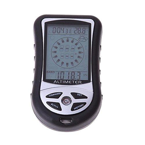 8en 1Digital multifunción barómetro altímetro pronóstico del tiempo Termómetro y reloj brújula electrónica...