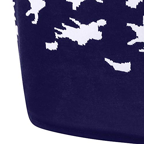 À Noel Mini Hiver Wapiti Femmes Robes Vintage robe Mrulic Capuchon Capuche Marine De Décontractée Noël 1953 5wvBx0ttqH