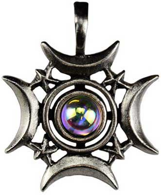 Pewter Pendant Cord Necklace - Crescent Moon Rising Pendant Necklace - Durable Pewter - Bonus Black Cord Necklace