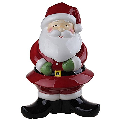 Comfy Hour Winter Holiday Christmas Santa Cookie Jar ()