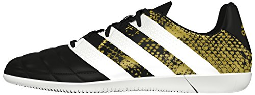 Metallic Calcio core 16 Nero gold Adidas 3 In White Black Leather Scarpe Ace ftwr Da Uomo ZqxRvAw0