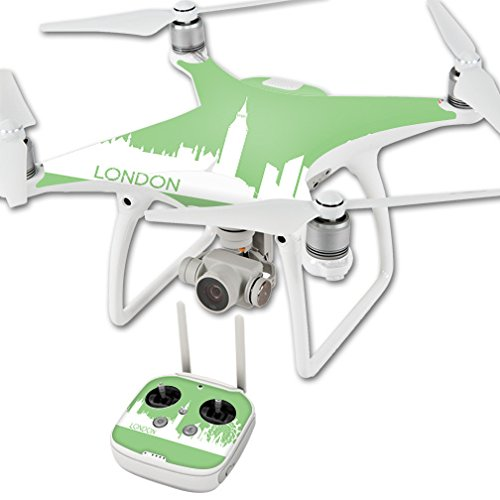 MightySkins Skin for DJI Phantom 4 Quadcopter Drone – London | Protective, Durable, and Unique Vinyl Decal wrap Cover | Easy to Apply, Remove, and Change Styles | Made in The USA