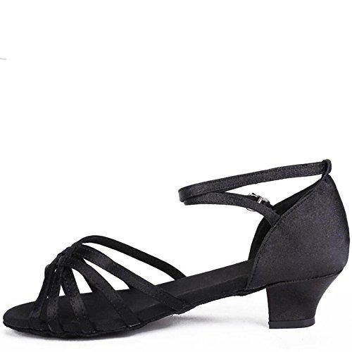 De Zapatos Baile Fondo Cm Femenina Negro 3 Adulta 5 Blando América Af7Fqw5F