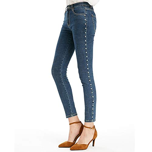 MVGUIHZPO Femme elastische N L Jeans Taille Jeans Jeans gel Jeans Bleistifte rr5AU