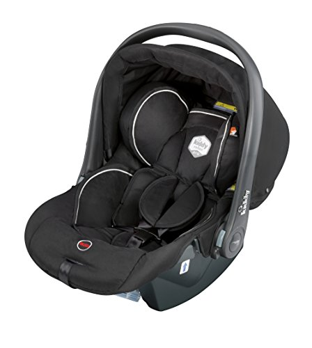 Kiddy 41490RPE77 Relax Pro Babyschale, Liegefunktion, Gruppe 0+ (0-13 kg, Geburt-ca. 18 Monate), schwarz