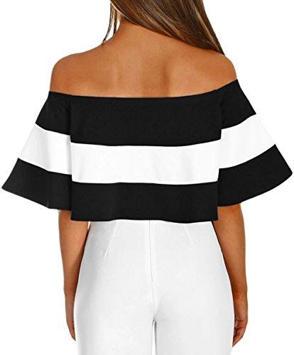 MASHIKOU Abbigliamento pagliaccetto Leotard Lingerie Camicie Elegante Body Intimo Top Off Estivi Nero Bodysuit Donna Shoulder 5 Tuta Blusa rOrvq7f