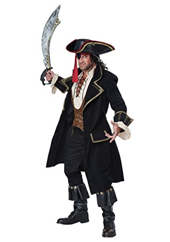 [Pirate Captain Deluxe Adult Costume] (Party City Toddler Girl Halloween Costumes)