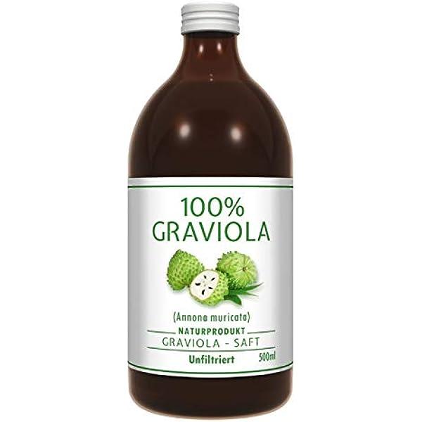 100% ZUMO DE GUANÁBANA - sin filtrar y vegano (500 ml), hecho ...