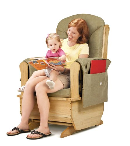 Jonti-Craft 8164JC Glider Rocker with Olive Cushions by Jonti-Craft