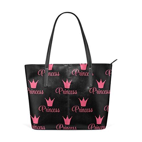 Donne Bag Pu Modello Le Borsa In Princess Sacchetto Tote Muticolour Medio Della Pelle Tracolla E Crown Per Borse Coosun HWaOqO
