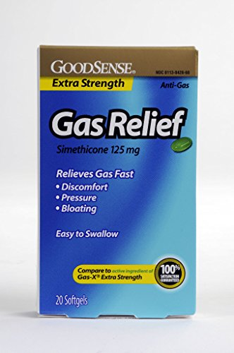 GoodSense® Goodsense® XS Gas Relief Softgels 125 Mg Simethicone 20 Count(Pack of 24) from Good Sense