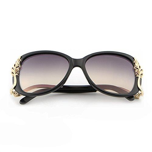Lunettes Feminino Metal de Black Frame Soleil Sol Pink MY oculos Polycarbonate Soleil Lunettes Retro Red de UV400 en de Femmes dzwv5qT
