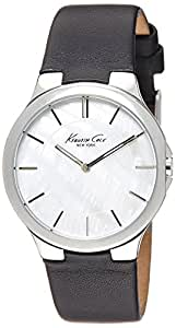 Kenneth Cole New York Women's KC2706 Slim Round Analog MOP Dial Black Watch