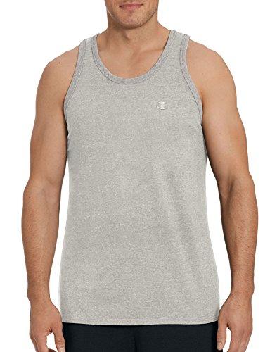 Champion Men's Classic Jersey Ringer Tank Top, Oxford Gray, L (Champion Sweet Shirts)