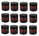 4oz glass jar with lid - Amber 4 Oz Glass Jar Black Lid - Pack of 12