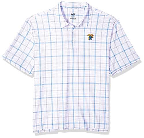Cutter Buck NCAA Mens Short Sleeve Gordon Plaid Print Polo