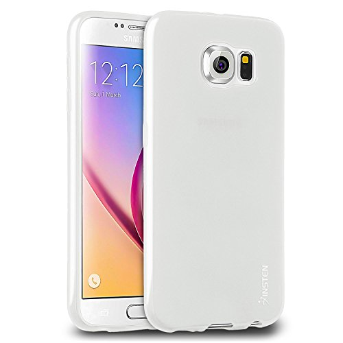 Compatible with Galaxy S6 Case, Insten Ultra Slim/Semi-Transparent/Full Protection TPU Soft Gel Protective Case Cover (Frost Clear Series) Compatible with Samsung Galaxy S6 VI 2015, Clear