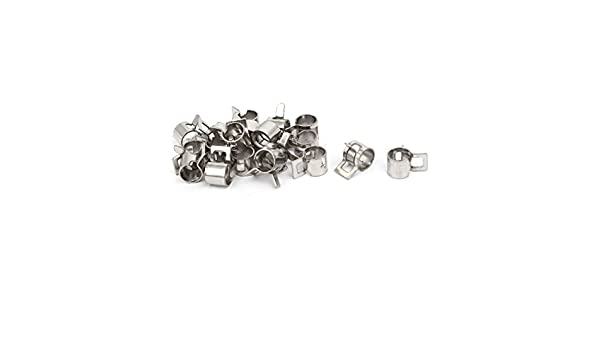 uxcell 6mm Inner Dia Nickel Plated Spring Clip Water Pipe Fuel Line Hose Clamps 20pcs a17011900ux0712
