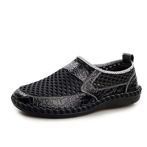 - Msanlixian 2019 Breathable Mesh Shoes Patchwork Shoes Men Summer Lightweight Slip-On Comfortable Cool Male Casual Footwear XX-085 Black 13