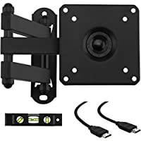 Cattail TV LCD Monitor Wall Mount Bracket With Full Motion Swing Out Tilt for Most 13 15 17 19 22 23 24 25 26 27 LED LCD OLED Plasma Flat Screen Monitor up To 44 lbs VESA 100x100mm