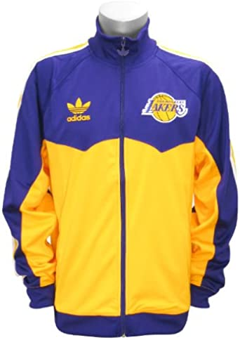 Peculiar Descarga activación  Amazon.com: Los Angeles Lakers Adidas Originals Ronda Off Track chamarra,  Púrpura, M: Clothing