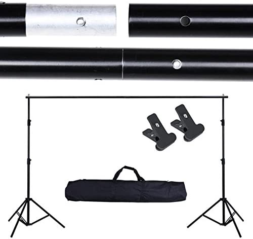 Adjustable Photo Background Backdrop Support Stand Kit 6x10 Ft