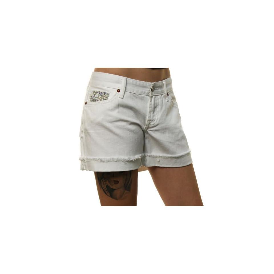 Lucky Brand Jeans Womens White Short Inseam Denim Shorts