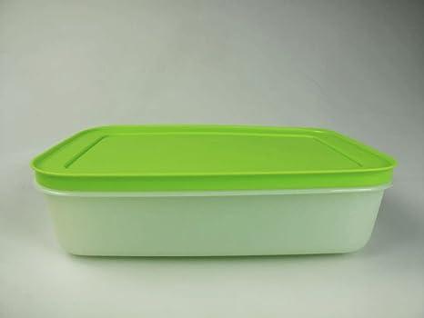 TUPPERWARE Gefrier-Behälter 1,0 L weiß grün flach Eis-Kristall G36 Eiskristall